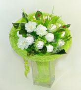 """646 Букет из конфет """"Белые тюльпаны"""""""